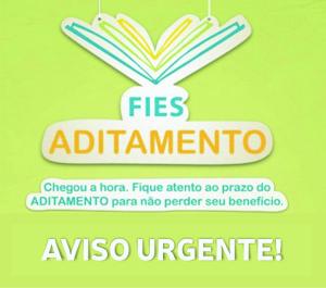 AVISO URGENTE – ADITAMENTO FIES