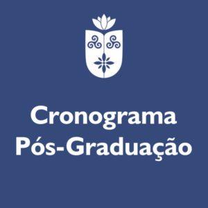 Cronograma Pós-graduação Maio