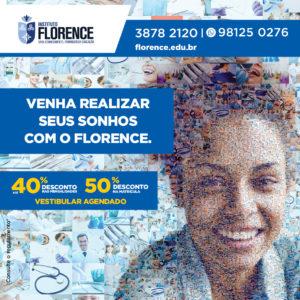 Florence promove campanha com desconto de 50% na matrícula 2018.2