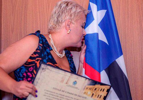 Professora da Florence é homenageada com o título de cidadã ludovicense